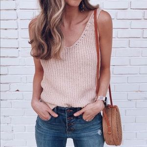 Sweaters - Loose knit tank top transitional for fall